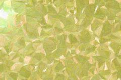 Good abstract illustration of Green and Yellow Impressionist Impasto paint. Handsome background for your design. Good abstract illustration of Green and Yellow royalty free stock image