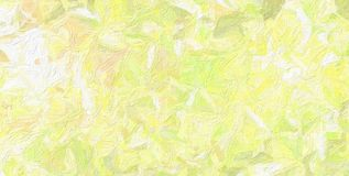 Good abstract illustration of yellow and green Impasto with large brush paint. Handsome background for your design. Good abstract illustration of yellow and royalty free stock images