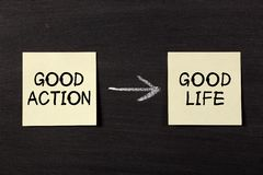 Good Action Results Good Life Stock Photos
