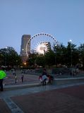 A good afternoon afternoon in atlanta. A whel of fortune on the center park stock photo