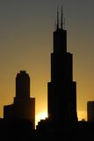 Good afternoon Chicago. Nice sunset scene of Chicago, portrait Royalty Free Stock Photos