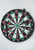 Good aim with darts Royalty Free Stock Photo