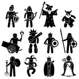 Good Ancient Warrior Character. A set of pictogram representing ancient warrior character for good alliance Royalty Free Stock Image