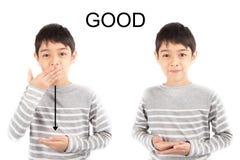 GOOD ASL Sign language communication Royalty Free Stock Photo