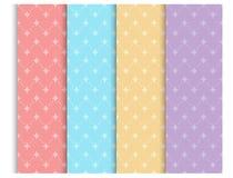 Pastel seamless pattern set, background. Vector illustration for elegant design. baby shower pattern. royalty free illustration