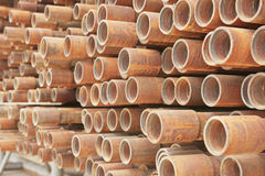 Good background from rusty pipes in outdoor Stock Image