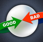 Good Bad Arrows Shows First Rate And Amateurish Royalty Free Stock Photo