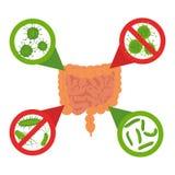 Stop bacteria sign set royalty free illustration