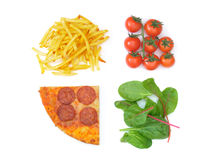 Good bad food choices Stock Image