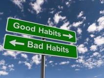 Good and Bad Habits Signs