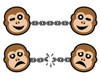 Good and bad monkey Stock Photo