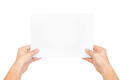 Good or bad news. On white Stock Photos