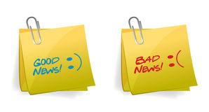 Good and Bad News Concept illustration Stock Images