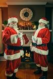 Good and Bad Santa's stock photo