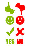 Good bad symbol stock illustration