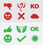 Good and bad symbols Stock Photography