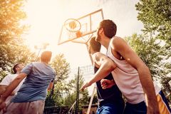 Good Basketball Game stock images