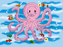 Octopus maze Royalty Free Stock Image