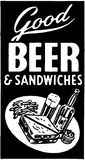 Good Beer And Sandwiches Royalty Free Stock Image