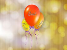 Good better and best balloons Royalty Free Stock Image