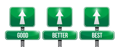 Good, better, and best sign illustration Stock Photo