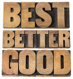Good, better, best typography Royalty Free Stock Image