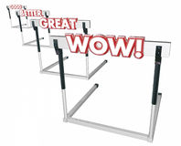 Good Better Great Wow Hurdles Performance Royalty Free Stock Photo