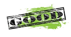 Good black and green stamp on white background. Good black and green  stamp Stock Images