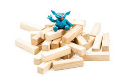 Good blue plasticine monster Stock Image