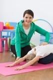 Good body posture demands exercises Stock Image