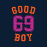 Good boy typography, t-shirt graphics. Vector illustration Stock Images