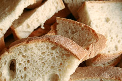 Good bread sliced. A few slices of bread royalty free stock images