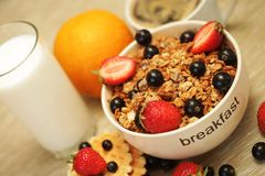 Good breakfast close up royalty free stock photography