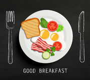 Good Breakfast lettering. Stock Images