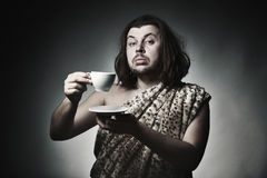 Good breeding. Coffee break. Royalty Free Stock Photo