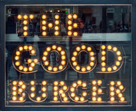 The Good Burger Light Cafe Sign Royalty Free Stock Photography