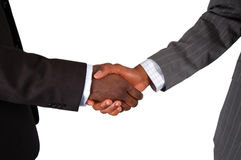 Good Business. This is an image of two male bodies, representing businessmen in handshake of agreement Royalty Free Stock Images