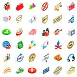 Good business icons set, isometric style. Good business icons set. Isometric style of 36 good business vector icons for web isolated on white background Stock Photo