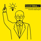 Good business idea poster. Creative business good idea poster Stock Photo
