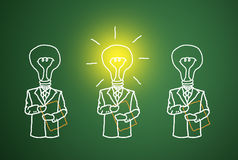 A good business intelligence. The lamp is lit, the talent and ingenuity of business competition Stock Photo