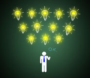A good business intelligence. Royalty Free Stock Images