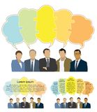Good business team. The members of the team think differently, but they answer the same Stock Photography