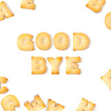 Good bye cookie font alphabet. Royalty Free Stock Photography