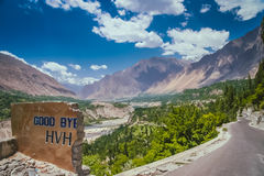 Good bye Karakorum Highway Stock Photography