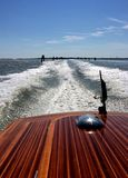 Good Bye Venice. Traveling by fairway to Venice airport on motor boat Royalty Free Stock Photo