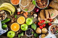 Good carbohydrate fiber rich food royalty free stock photography