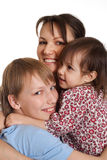 Good Caucasian family is embraced royalty free stock image
