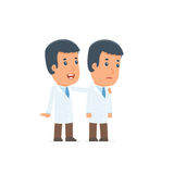 Good Character Doctor cares and helps to his friend in difficult Royalty Free Stock Photos