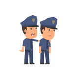 Good Character Officer cares and helps to his friend in difficul Stock Photography