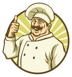 Good chef thumb up. Vector of good chef thumb up Stock Photos